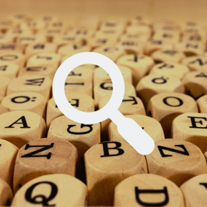 research-icon-words-background