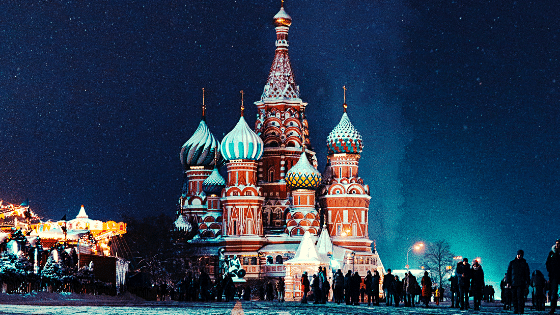 night-in-russia-building