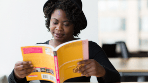 black-young-woman-studying