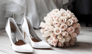 wedding-shoes-and-buquet