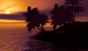 sunset-tropical-island