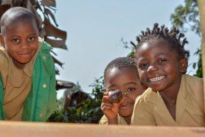 three-african-children