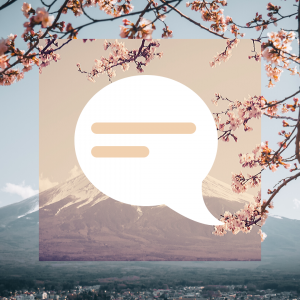 talk-symbol-japanese-background