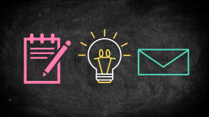 content-writing-email-icons-chalkboard-background