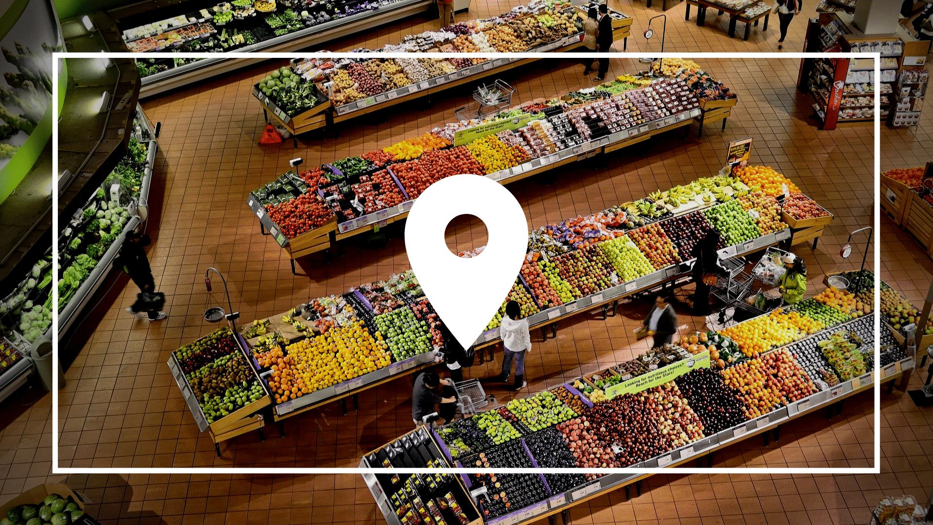 product-localization-icon-supermarket-background