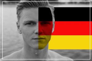 german-flag-man-face