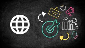 global-marketing-icons-chalkboard-background