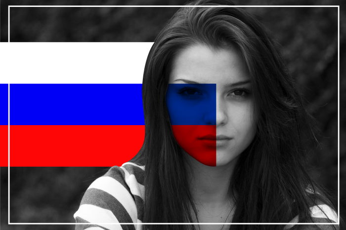 russian-flag-on-woman-face