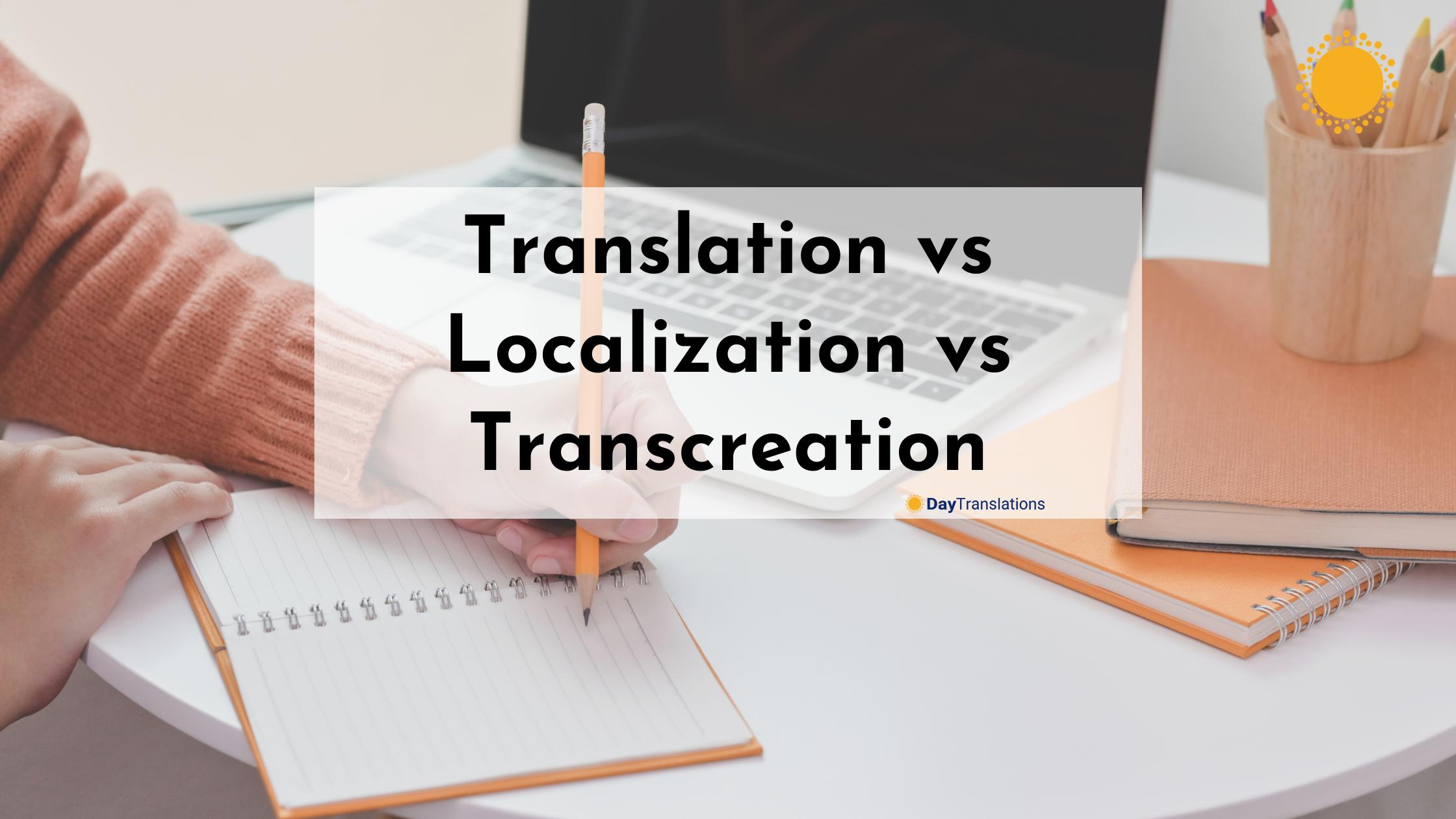 Translation vs Localization vs Transcreation