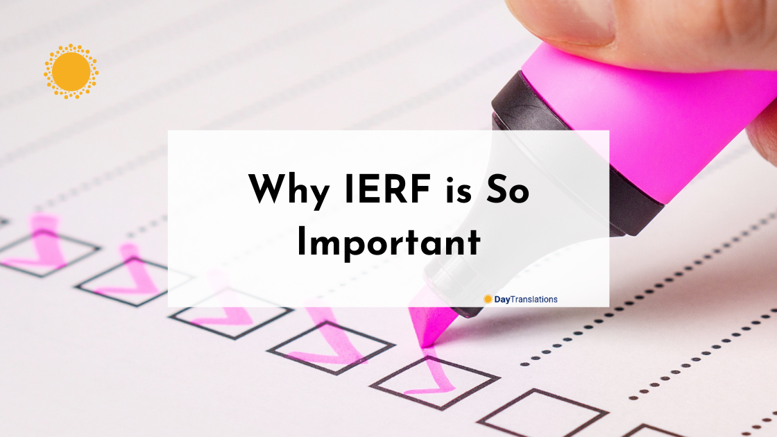 Why IERF is So Important
