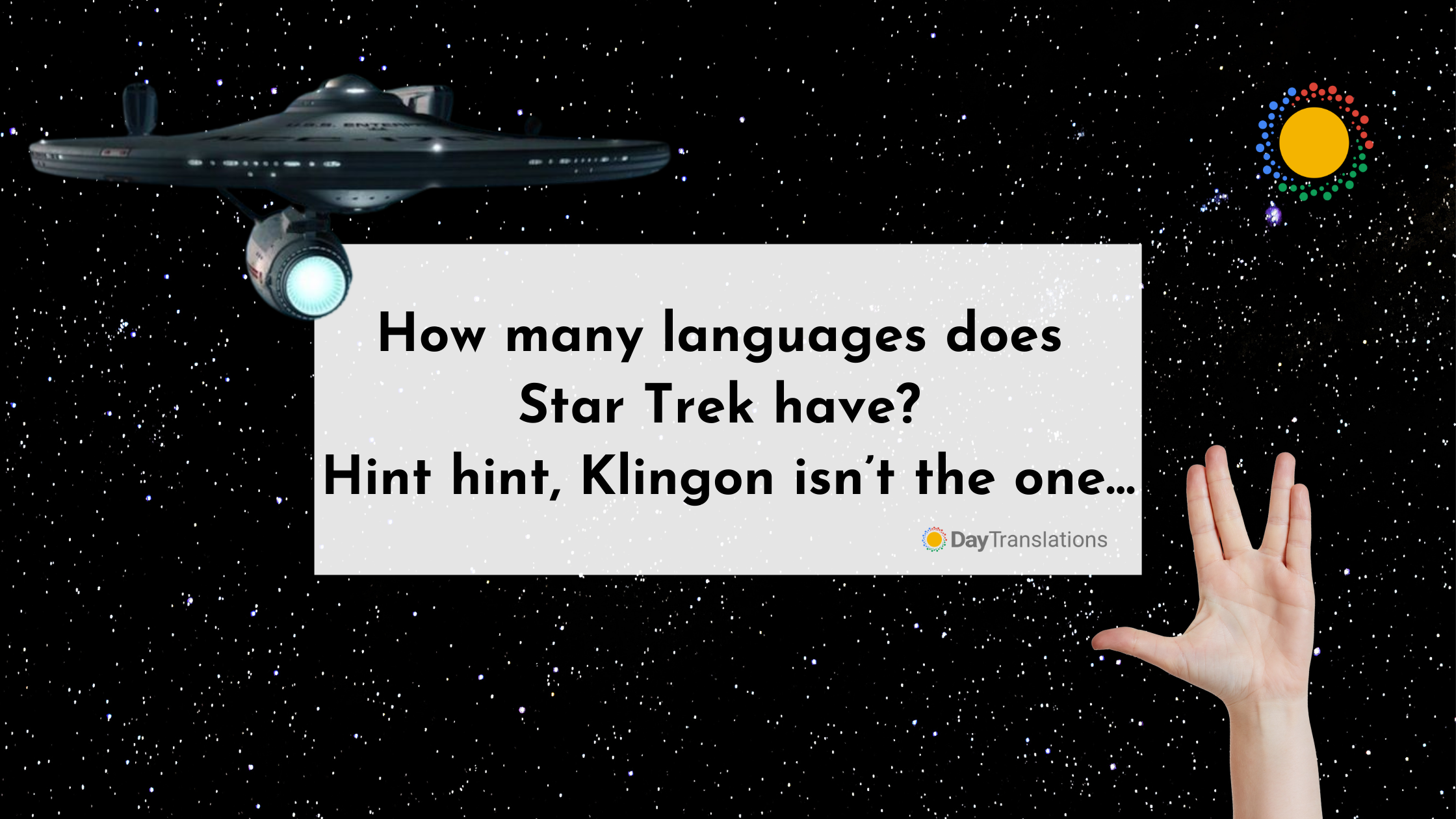 How many languages does Star Trek have? Hint hint, Klingon isn't the one…