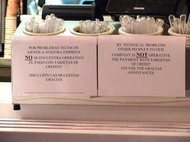 Day Translations Mistranslations Credit Card Problems