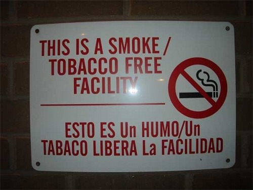 Day Translations Mistranslations - Tobacco Free Facility
