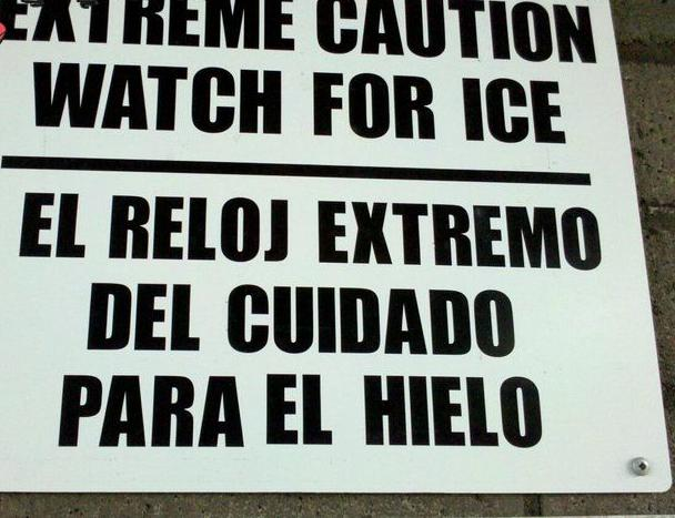 DayTranslations Mistranslations Watch for Ice