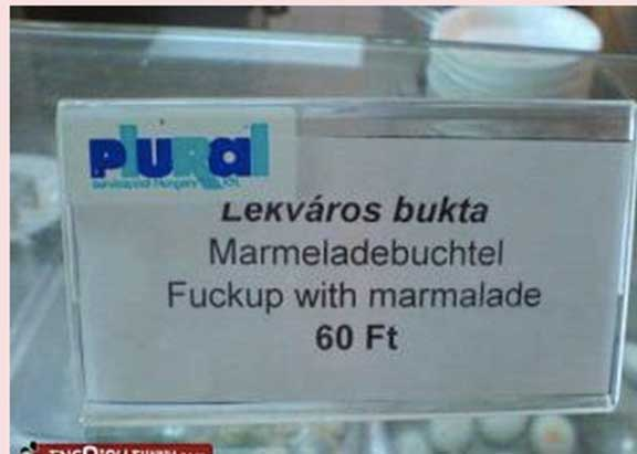 Mistranslation - Marmalade