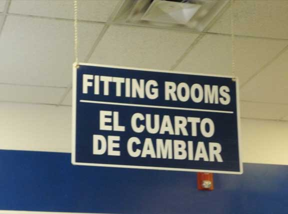 Mistranslation on a Fitting Room
