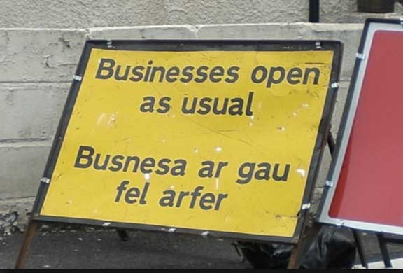 Mistranslation - Businesses open as usual