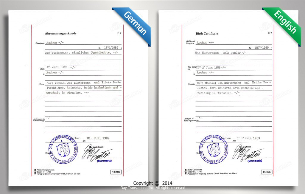 Certified translation samples day translations work german to english sample yadclub Images