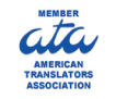 Official Member of the American Translators Association