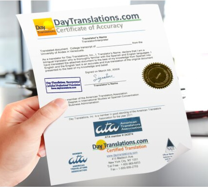 Certified Translations