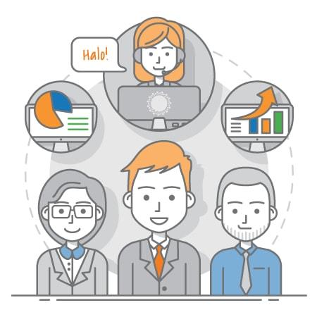 voice over team illustration