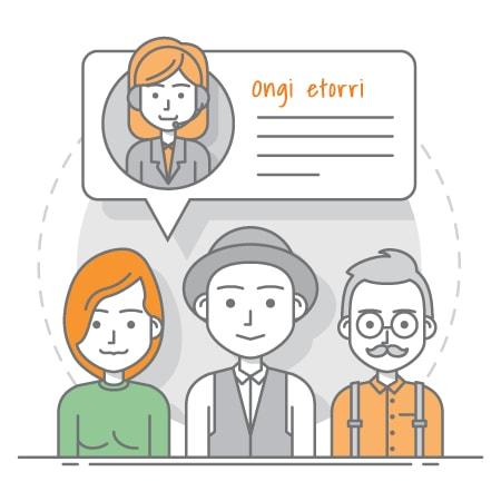 over the phone interpreter illustration