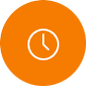 Clock Orange Icon