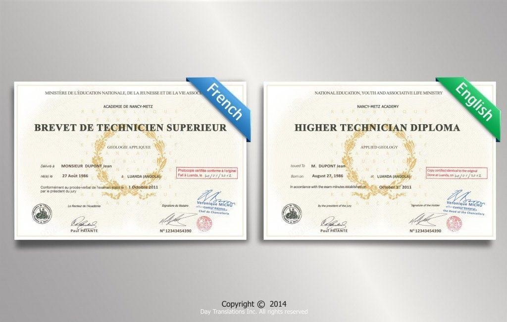 certified translation samples day translations work