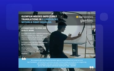 GlenFilm Video Studio Client Case Study