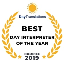 Nomination for Best Day Interpreter 2019