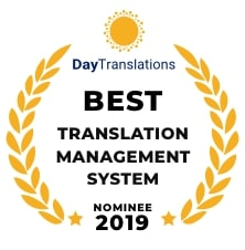 Nomination for Best Translation Management System 2019