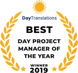 Best Day Project Manager of the year